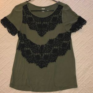 Olive work blouse